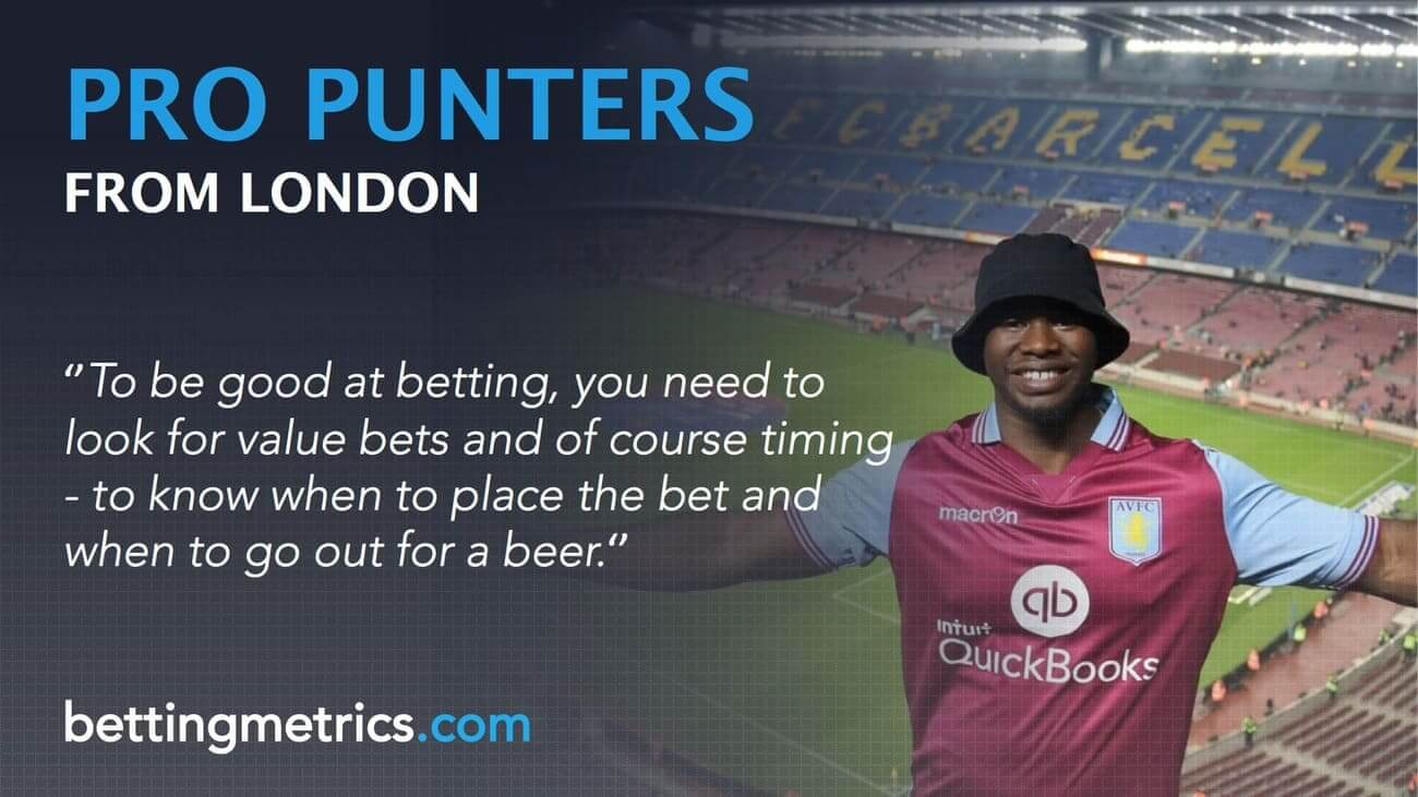Interview with a 31-year-old punter based in London, who rely on data when betting.
