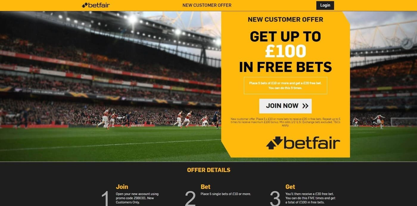 The welcome bonus provided by Betfair for all its new customers