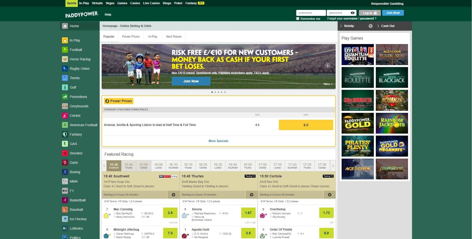 Paddy power spread betting review s a horse racing betting odds