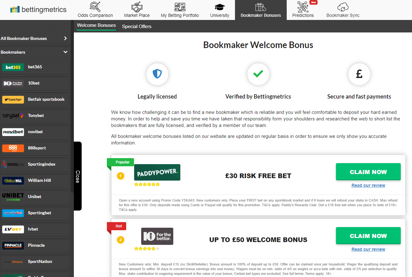 Product update - 4.10.2019 - added new style of bookmaker offers